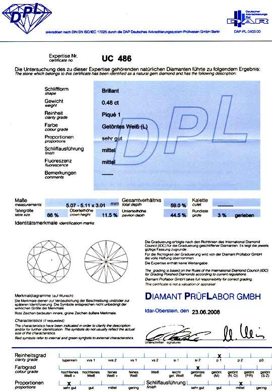 Foto 9, Diamant Spannring 0,48ct DPL Expertise, Gelbgold Luxus!, S9784
