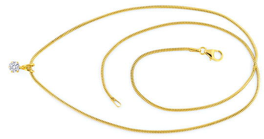 Foto 1 - Diamantkollier Collier 0,27ct River VS1 Gelbgold Luxus!, S9789