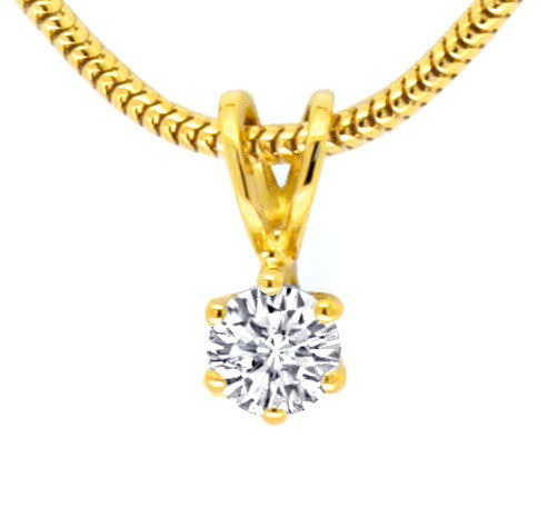 Foto 2 - Diamantkollier Collier 0,27ct River VS1 Gelbgold Luxus!, S9789