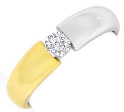 Foto 1, Brillant Diamant Spannring River Viertelkaraeter Luxus!, S9793