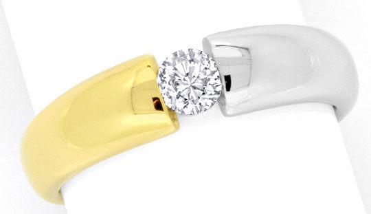 Foto 2, Brillant Diamant Spannring River Viertelkaraeter Luxus!, S9793