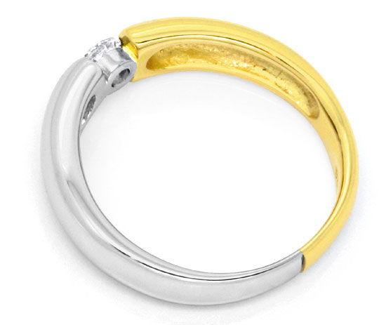 Foto 3, Brillant Diamant Spannring River Viertelkaraeter Luxus!, S9793