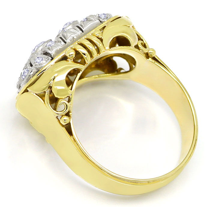 Foto 3 - ArtDeco Diamantring mit 0,71ct Diamanten in Gold Platin, S9799