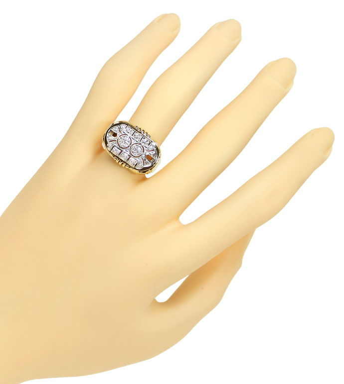 Foto 4 - ArtDeco Diamantring mit 0,71ct Diamanten in Gold Platin, S9799