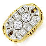 ArtDeco Diamantring mit 0,71ct Diamanten in Gold Platin