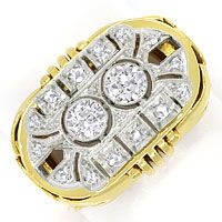 zum Artikel ArtDeco Diamantring mit 0,71ct Diamanten in Gold Platin, S9799