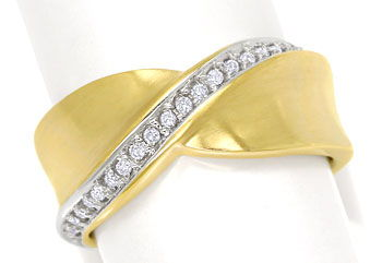 Foto 1 - Design Diamantring mit 23 River Brillanten 14K Gelbgold, S9800