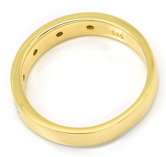 Foto 3 - Gold Diamant Ring mit 0,10ct Brillanten in 14K Gelbgold, S9810