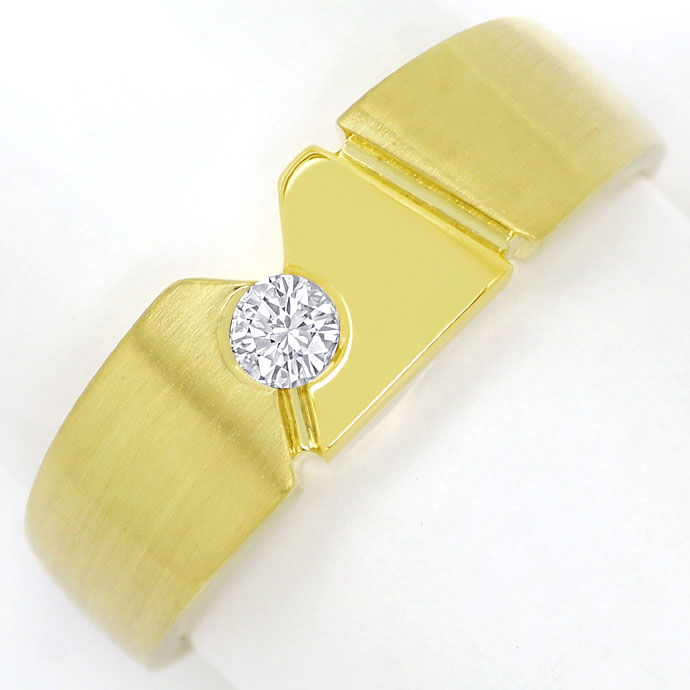 Foto 2 - Designer Bandring mit 0,15ct River Brillant in 14K Gold, S9820