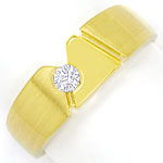 Designer Bandring mit 0,15ct River Brillant in 14K Gold