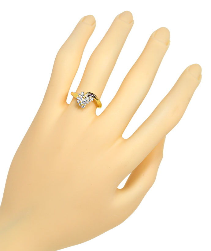 Foto 4 - Bezaubernder Diamantring mit 0,26ct Brillanten 14K Gold, S9832