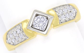 Foto 1 - Edler Diamantring mit 0,50ct Brillanten in 14K Gelbgold, S9852