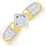Edler Diamantring mit 0,50ct Brillanten in 14K Gelbgold