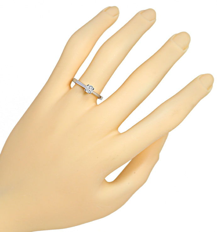 Foto 4, Diamant-Solitärring mit 0,42ct River Brillant Weissgold, S9886