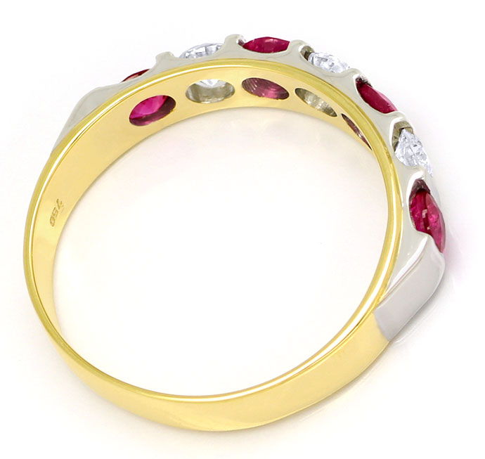 Foto 3 - Halbmemory Ring 0,80ct TOP Rubine und 0,43ct Brillanten, S9899