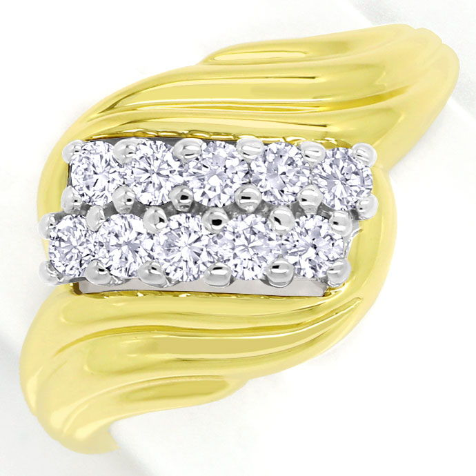 Foto 2 - Diamantring mit 0,50ct River Brillanten in Bicolor Gold, S9901