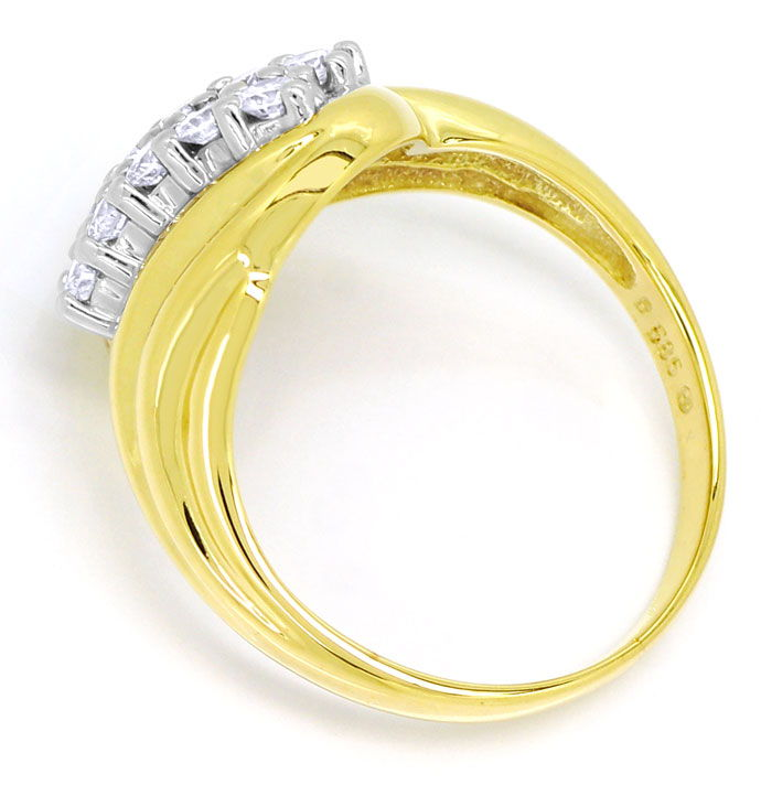 Foto 3 - Diamantring mit 0,50ct River Brillanten in Bicolor Gold, S9901