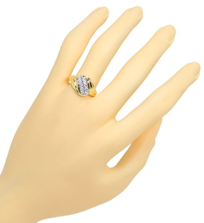 Foto 4 - Diamantring mit 0,50ct River Brillanten in Bicolor Gold, S9901