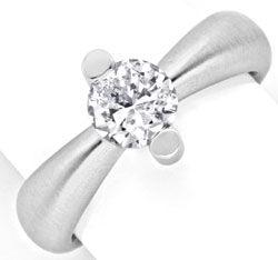 Foto 1, Brillant Einkaräter Ring Topdesign 18K Weissgold Luxus!, S9904