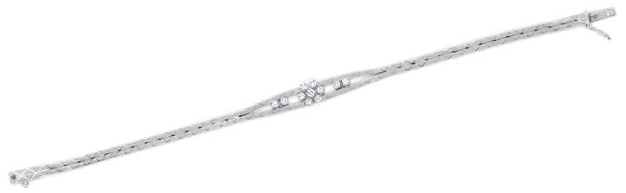 Foto 1 - Diamantarmband mit 0,47ct Brillanten in 585er Weissgold, S9912