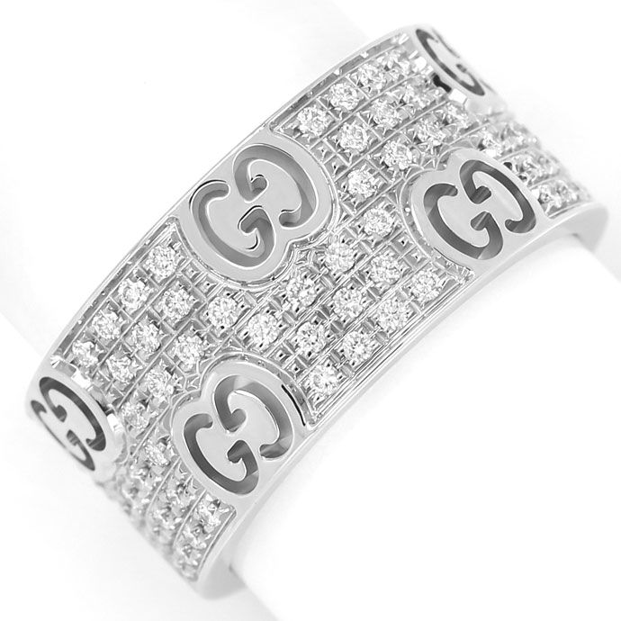 Foto 2 - Icon Stardust Gucci Ring breit 110 Brillanten Weissgold, S9937
