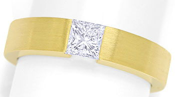 Foto 1, Diamant Spannring 0,54ct Diamant Princess Cut lupenrein, S9961