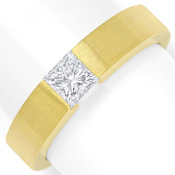 Foto 2, Diamant Spannring 0,54ct Diamant Princess Cut lupenrein, S9961