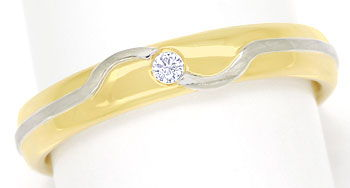Foto 1, Niessing Diamantring mit Brillant in Gelbgold Weissgold, S9966
