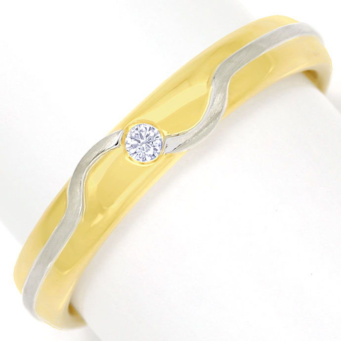 Foto 2, Niessing Diamantring mit Brillant in Gelbgold Weissgold, S9966