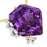 Designer Kollier 40ct Super Top Amethyst und Brillanten
