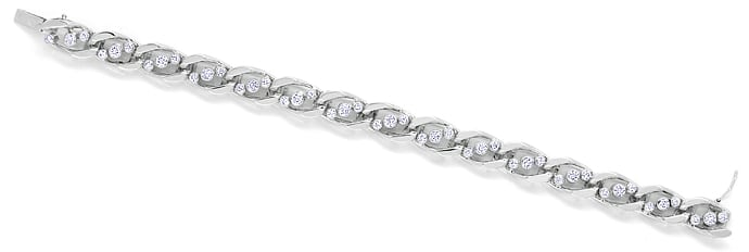 Foto 1, Diamantenarmband mit 2,25ct Brillanten in 18k Weissgold, S9990