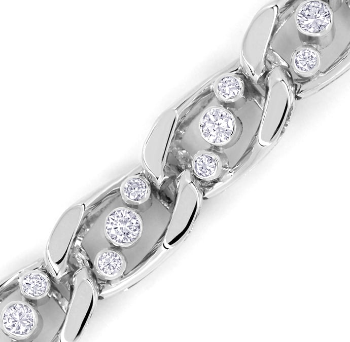 Foto 2, Diamantenarmband mit 2,25ct Brillanten in 18k Weissgold, S9990