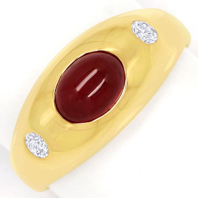 Foto 2 - Rubin Diamant Bandring mit Spitzen Rubin und Brillanten, S9999