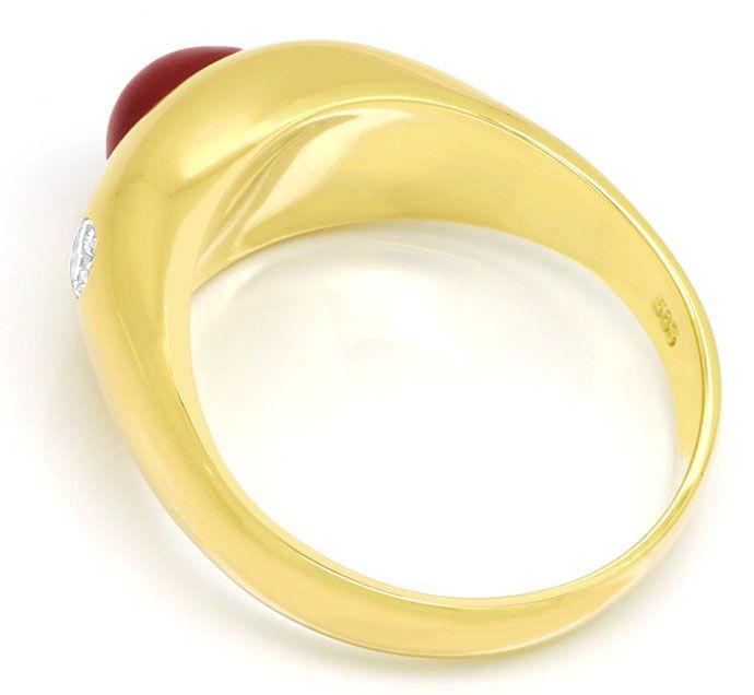 Foto 3 - Rubin Diamant Bandring mit Spitzen Rubin und Brillanten, S9999