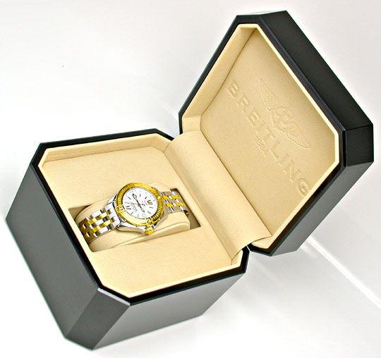 Foto 5, Breitling B-Class Damen-Uhr Stahlgold Pilot Topuhr Neuz, U1000
