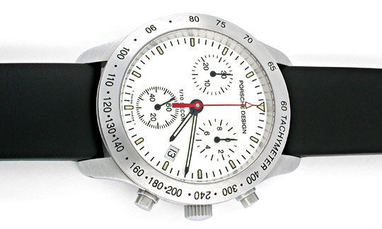 Foto 1, Porsche-Design Eterna P10 Chronograph Stahl Topuhr Neu!, U1002
