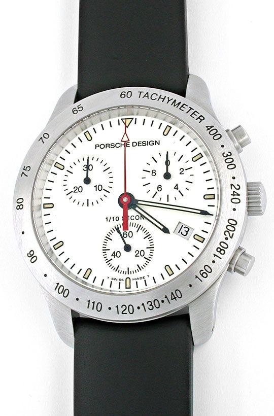Foto 2, Porsche-Design Eterna P10 Chronograph Stahl Topuhr Neu!, U1002