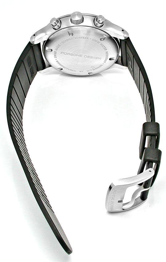 Foto 3, Porsche-Design Eterna P10 Chronograph Stahl Topuhr Neu!, U1002