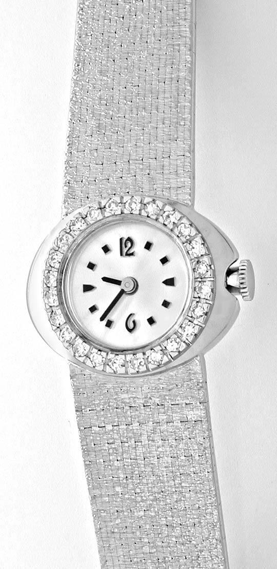 Foto 2, Damen-Diamant-Armbanduhr, 18K-Wg River Lupenrein Topuhr, U1003