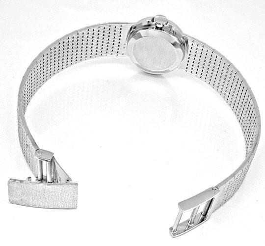 Foto 3, Damen-Diamant-Armbanduhr, 18K-Wg River Lupenrein Topuhr, U1003