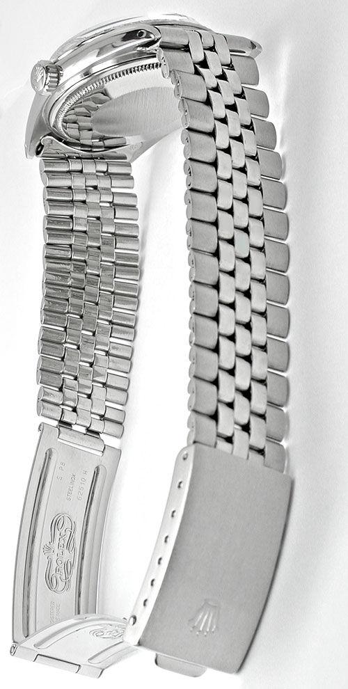 Foto 3, Rolex Datejust, Herren-Uhr, Automatik Edel-Stahl Topuhr, U1004