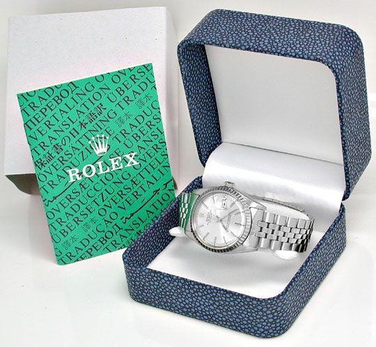 Foto 4, Rolex Datejust, Herren-Uhr, Automatik Edel-Stahl Topuhr, U1004
