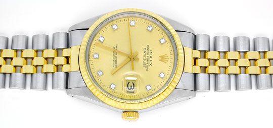 Foto 1, Hr Rolex Datejust Stahlgold Diamant-Zifferblatt, Topuhr, U1005