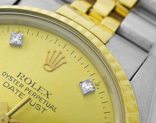Foto 3, Hr Rolex Datejust Stahlgold Diamant-Zifferblatt, Topuhr, U1005