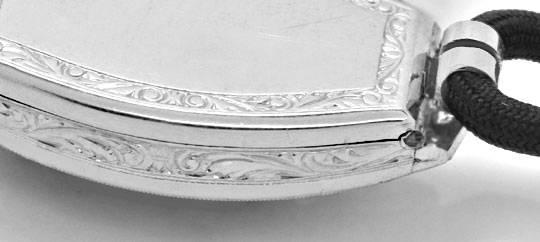 Foto 3, Art Deco Orig. Platin Diamanten Damen Armbanduhr Topuhr, U1006