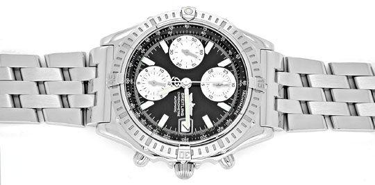 Foto 1, Breitling Chronomat Hr-Uhr Stahl Pilotband Topuhr Neuz., U1008