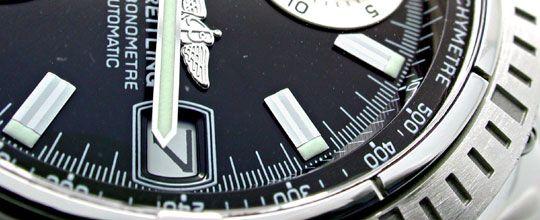 Foto 3, Breitling Chronomat Hr-Uhr Stahl Pilotband Topuhr Neuz., U1008