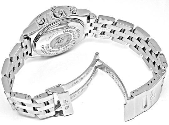 Foto 4, Breitling Chronomat Hr-Uhr Stahl Pilotband Topuhr Neuz., U1008