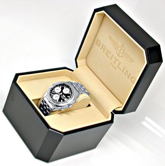 Foto 5, Breitling Chronomat Hr-Uhr Stahl Pilotband Topuhr Neuz., U1008