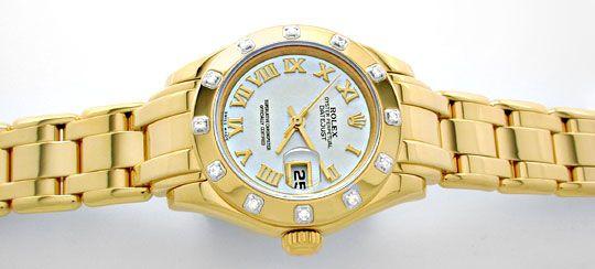 Foto 1, Rolex Lady-Datejust Pearlmaster Diamanten Geprüft Neuz., U1009